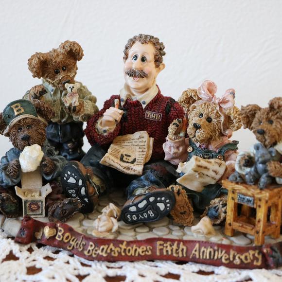 Boyds Bears Other - Boyds Bear Resin Bearstone 1998 5th Anniversary